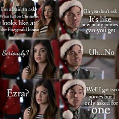 Ezria in 5x13 - 'How the A Stole Christmas'