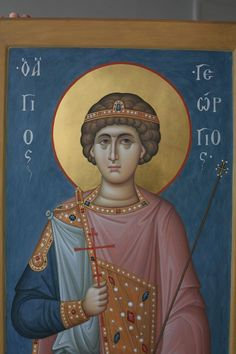 Byzantine Icons, Saint George, Orthodox Icons, Religious Art, Cathedral, Saints, Painting, Fresco, Lds Art
