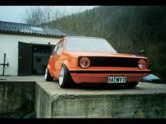 mk1 vw rabbit - orange