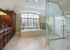 modern bathroom design with jacuzzi tub - Google Search