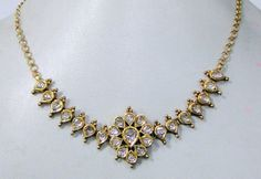 Vintage antique 22 k solid gold Kundan Diamond