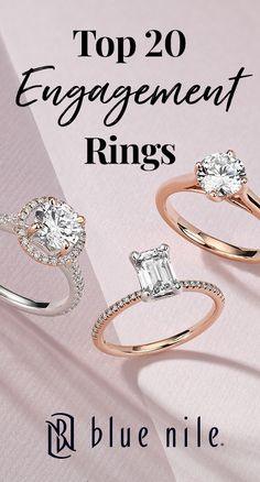 With the largest selection of certified diamonds and meticulously designed, handcrafted rings, we're here to help you find your perfect engagement ring. Start your search with inspiration from our top 20 engagement rings! View now at BlueNile.com.