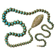 An Extraordinary English 1890 Victorian Snake Necklace