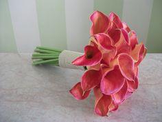 #bridal#bouquet#coral#callas Boutonnieres, Bridal Bouquets, Coral, Flowers, Plants, Wedding Bouquets, Plant, Royal Icing Flowers, Flower