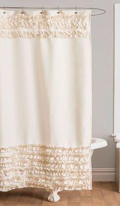 Ivory Skye Shower Curtain