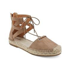 2ce275c6328 Women  Janya Ghillie Lace Up Espadrille Ballet Flats - Merona™   Target