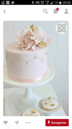 Single Layer Cake Decorating Ideas Best Of 257 Best Pink Cake Images On Pinteres. Pretty Cakes, Cute Cakes, Beautiful Cakes, Amazing Cakes, Single Tier Cake, Single Layer Cakes, 2 Tier Cake, Fondant Cakes, Cupcake Cakes