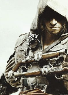 Assassin's Creed : Black Flag : Edward Kenway : Pistol Wielding - I love the fact that he has so many guns and can move so quickly...mmmm