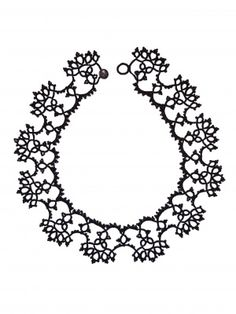 Lorina black lace floral choker | Mikimoiselle
