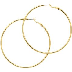 Melissa Odabash Large Hoop Earrings , Gold found on Polyvore