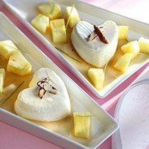 /7 pp) Vaniljpannacotta med Mojitomarinerad ananas