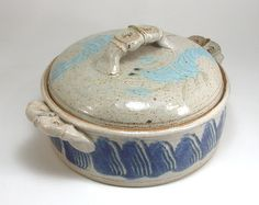 Pottery Covered Casserole Handmade Stoneware by Artifactorium, $49.00   2 3/4 quarts.