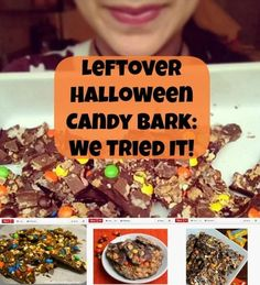Not sure what to do with that leftover Halloween candy? Make Halloween candy bark! Recipe when you click http://thestir.cafemom.com/food_party/163368/turn_leftover_halloween_candy_into?utm_medium=sm&utm_source=pinterest&utm_content=thestir
