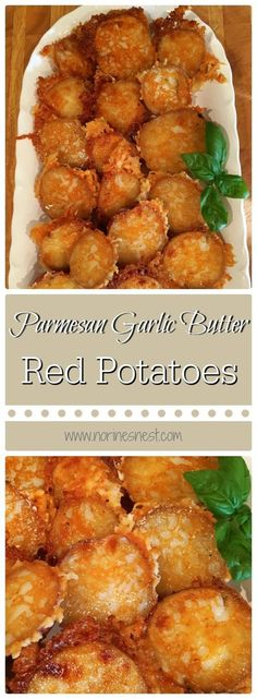 The perfect side dish! Parmesan Garlic Butter Red Potatoes is a favorite at our house! They are AMAZING! Super simple to make and can be baking in the oven while the main course is on the grill! Yum!