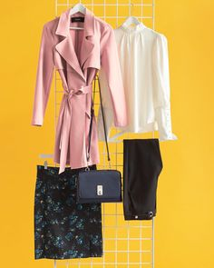 Pinking about how to show off your personal style at the office tomorrow? Trade in your classic trench for one in the perfect shade of…
