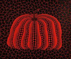 Kusama's pumpkin seems appropriate today
