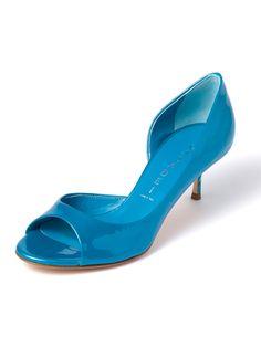 CASADEI - enamel leather open toe pumps separate