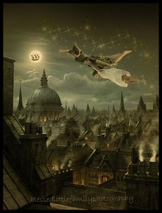 St. Paul's (Feed the Birds), Peter Pan, London rooftops (Chim Chim Cher-ee), Steampunk, Pirates... this picture makes me think of so many things I love. <3