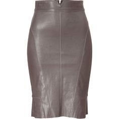 JITROIS Mud Stretch Leather Skirt ($1,590) ❤ liked on Polyvore