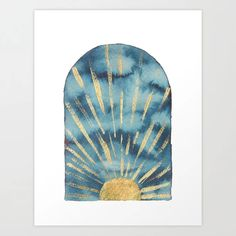 Buy Boho sunrise navy and gold Art Print by whalesway. Worldwide shipping available at Society6.com. Just one of millions of high quality products available. Navy Home Decor, Gold Art, Buy Frames, Printing Process, Sunrise, Gallery Wall, Art Prints, Boho, Stuff To Buy