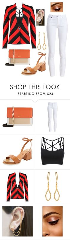 """Fashion & clever"" by elomila ❤ liked on Polyvore featuring DKNY, Barbour, Tod's, Embers Gemstone Jewellery and whitepants"