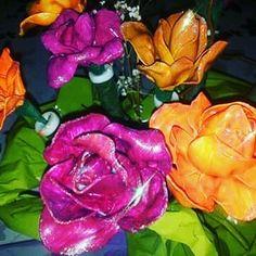 Bouquet di fiori  Cucchiai di plastica ed acrilico