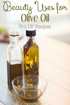 In addition to coconut oil, olive oil is one of those pantry items that can easily be incorporated into your beauty routine. It's high in moisture and antioxidants making it great for the skin and hair.