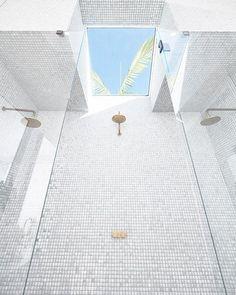 + skylight +  = dream shower  #bonniesdreamhome #moderncoastalbarn Skylight by @veluxaustralia | Tiles by @nationaltilesau | Tapware by @caromaaustralia