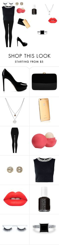 """Job Interview"" by issabella123-274 ❤ liked on Polyvore featuring beauty, Sergio Rossi, Rocio, Kenneth Cole, Goldgenie, Topshop, Eos, EF Collection, Lime Crime and Essie"