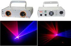 Double 2 Lens Stage Laser Light Projector Lazer Display Show Lighting DJ Disco…