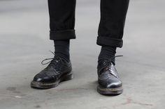 Black Doc Marten Longwings