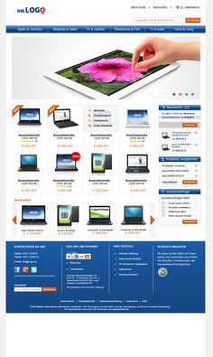 Startseite des TLC Magento Onlineshop Basic. Das Design kann an die eigene Corporate Identity angepasst werden.   Mehr unter:  http://www.tlc-communications.de/produkte/e-commerce/onlineshop-basic.html