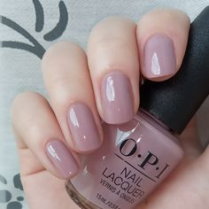 "OPI -""You've Got that Glas-glow"". Opi Gel Nails, Opi Nail Polish Colors, Opi Gel Polish, Mauve Nails, Manicure Y Pedicure, Neutral Nails, Shellac Nail Designs, Opi Colors, Stylish Nails"