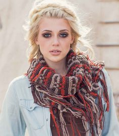 Canyon Cowl Pattern; Janet Brani; Interweave Crochet, Fall 2014 | InterweaveStore.com