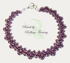 """Collier """"Elloes"""" in Pastel-Bordeaux und Silber von Beads by Rolling-Fantasy auf DaWanda.com"""