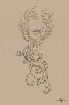 Tattoo harry potter phoenix deathly hallows Best Ideas - Each Feather Tattoos, Body Art Tattoos, Small Tattoos, Cool Tattoos, Tattoo Calf, Arm Tattoo, Sleeve Tattoos, Phoenix Drawing, Phoenix Art