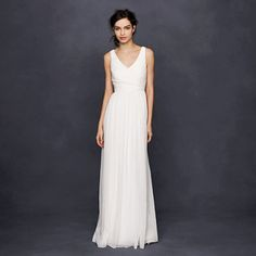 J.Crew - Heidi gown: €550. Spruce it up with sparkle belt and flower crown?