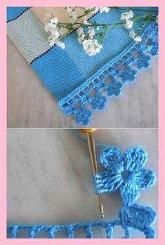 How To Make Lovely Lace Crochet Motif Crochet Doily Rug, Crochet Edging Patterns, Crochet Lace Edging, Crochet Borders, Crochet Flowers, Crochet Stitches, Free Crochet, Crochet Edgings, Crocheted Lace