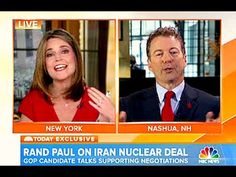 Rand Paul Goes off on Savannah Guthrie: Watch Rand Paul's tense interview with NBC anchor: 'No, no, no, no, no, no, no, no' .. | .. Just a day after he announced he's running for president in 2016, Sen. Rand Paul [R-Ky] found himself on national television fighting a reporter who he accused of editorializing his views. Paul appeared on the Today show, and the tension began when anchor Savannah Guthrie asked if he'd accept the Iran nuclear agreement as described by the U.S. and Iran in public…