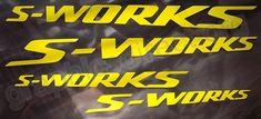 Specialized S-Works Tapered Bike Sticker / Decal Set. (132) - Dove Grey