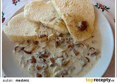 Houbová omáčka na kysané smetaně recept - TopRecepty.cz Pancakes, Oatmeal, Breakfast, Food, Meal, Pancake, Eten, Meals, Rolled Oats