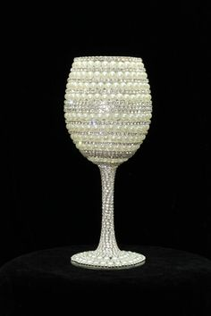 Custom Made Wine Glasses Bride Wine Glass Wedding Glasses Bridesmaid Wine Glass Sweet 16 Rhinestone Crystals Party Glasses on Etsy, $60.00