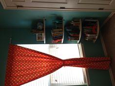 Boys baby room. Turquoise and orange theme