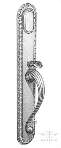 Cranwell thumblatch | Custom Door Hardware  This actual size artist drawing is available from Baltica on a complimentary basis. Contact www.balticacustomhardware.com