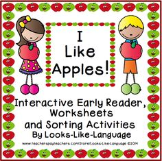A fun early reader with an interactive take home mini book, worksheets and sorting activities! Fry words, colors and size concepts! $