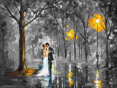Rainy Wedding-deal of the day. Mixed media oil on canvas/limited edition giclee on canvas by L.Afremov https://afremov.com/WEDDING-UNDER-THE-RAIN-Mixed-media-oil-on-canvas-and-limited-edition-giclee-On-Canvas-By-Leonid-Afremov-Size-40-x30-100cm-x-75cm.html?bid=1&partner=20921&utm_medium=/offer&utm_campaign=v-ADD-YOUR&utm_source=s-offer