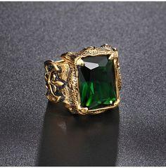 's Gothic Punk Plated Gold Ruby Biker Ring Boys Gold Ring, Ring Boy, Mens Emerald Rings, Gold Mangalsutra Designs, Biker Rings, Vintage Style Rings, Engagement Rings For Men, Rings Cool, Bracelets For Men