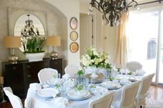 White Easter tablescape by Randi Garrett Design