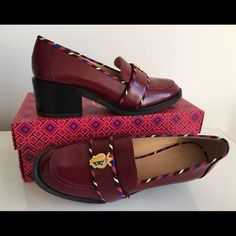 """TORY BURCH MULTICOLOR HAMPTON LOAFERS, SIZE 8.5 TORY BURCH MULTICOLOR HAMPTON LOAFERS, SIZE 8.5, CHUNKY HEIGHT HEEL 2"""", BRAND NEW WITH BOX AND DUST BAG Tory Burch Shoes Flats & Loafers"""