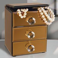 Mirror Jewelry Box In Copper